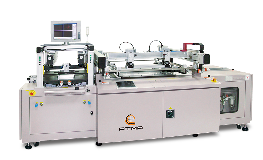 ATMAATMAOE PC66/PC68 Fully Automatic CCD registering PCB Screen Printer