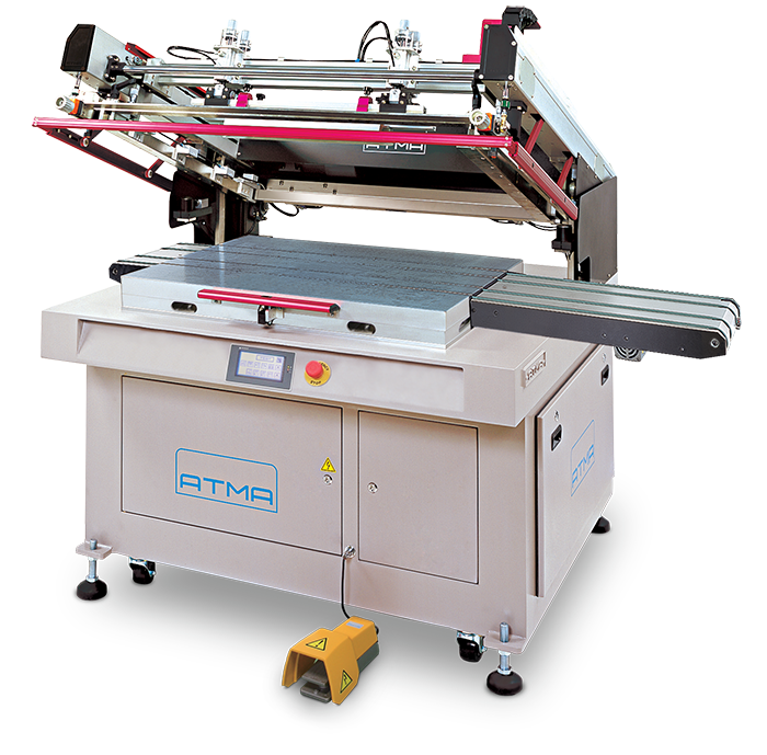 ATMA ATMECH 57/B Clam-Shell Screen Printer with Belt Take-Off